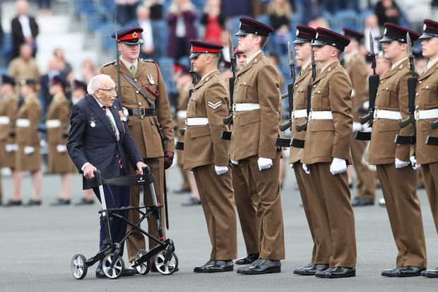 Soldiers from the Yorkshire Regiment will honour Captain Sir Tom Moore at his funeral (Danny Lawson/PA)