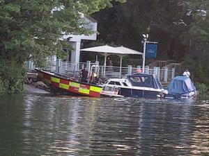 A search was launched after a man went missing in the water in Cookham on Tuesday (Levi Genes@Levi_Genes/PA)