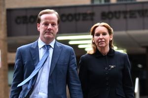 Former Conservative MP Charlie Elphicke, with MP for Dover Natalie Elphicke, at Southwark Crown Court (Victoria Jones / PA)