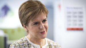 Nicola Sturgeon said banks have a responsibility to help with the coronavirus crisis after being bailed out (Jane Barlow/PA)