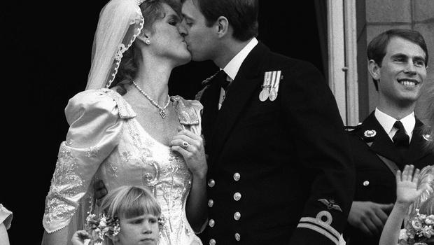 In 1986, the Duke of York and his new wife Sarah Ferguson shared their balcony moment (PA)