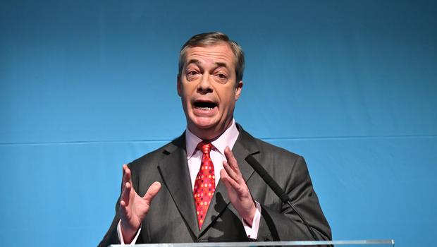 Brexit Party leader Nigel Farage has been speaking to supporters in North Wales (PA)