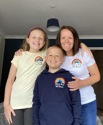 Jude Hawkridge with his mother Jo and sister Lilly (The Children's Hospital Charity/PA)