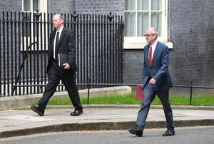 Chief medical officer Professor Chris Whitty and chief scientific adviser Sir Patrick Vallance are visible members of Sage (Stefan Rousseau/PA)