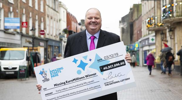 The National Lottery's Andy Carter made an appeal in Dorchester (Camelot/PA)