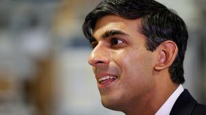 Chancellor of the Exchequer Rishi Sunak visited the Worcester Bosch factory (Phil Noble/PA)