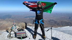 Akke Rahman at the top of Mount Elbrus (Akke Rahman)