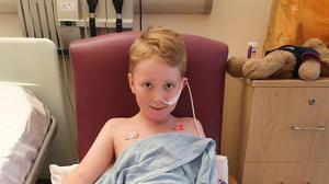 Jack spent days in intensive care after contracting the disease (Family handout)