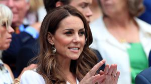 The Duchess of Cambridge in the royal box at Wimbledon (Mike Egerton/PA)