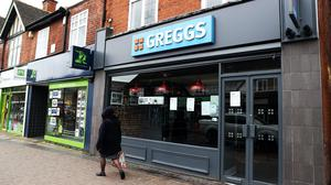 A closed Greggs store in West Bridgford, Nottingham (PA)