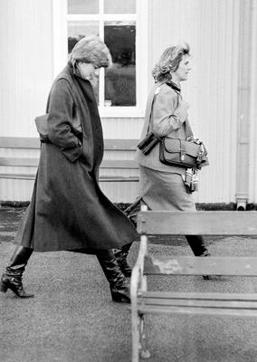 Diana and Camilla Parker-Bowles together in 1980 (PA)