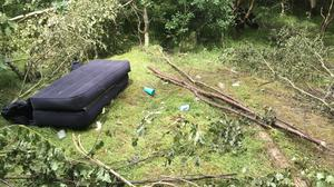 The Woodland Trust said a huge increase in litter and fly-tipping in woodlands during lockdown is harming the countryside and putting nature at risk (David Bonsall/Woodland Trust/PA)