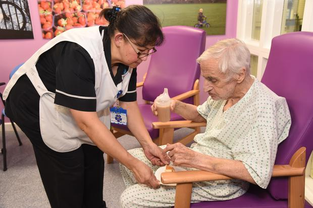 Housekeeper Cheryl Williams, who died after contracting Covid-19 (Middlesex University Hospital NHS Trust/PA)