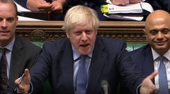 Boris Johnson was dealt a series of blows (House of Commons/PA)