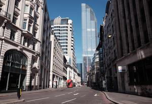 Offices in central London have fallen silent amid the lockdown (Yui Mok/PA)
