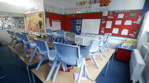 An empty nursery room after the shutdown, which some business owners say will see them go bust after a change in funding policy (Martin Rickett/PA)