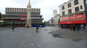 A deserted Leicester city centre, as the city awaits a decision on the local lockdown (Mike Egerton/PA)