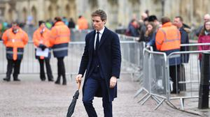 Eddie Redmayne, who played the role of Professor Stephen Hawking in the 2014 biographical drama The Theory of Everything, attends his funeral (Joe Giddens/PA)