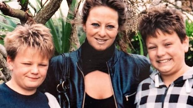 Harry Dunn with his mother Charlotte Charles and twin brother Niall Dunn (Family Handout/PA)