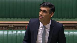 Chancellor Rishi Sunak delivers a summer economic update in a statement to the House of Commons (House of Commons/PA)