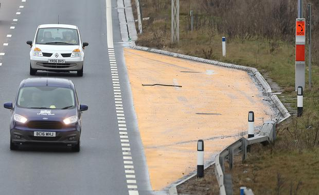 There are around 500 miles of smart motorways in England (Martin Rickett/PA)