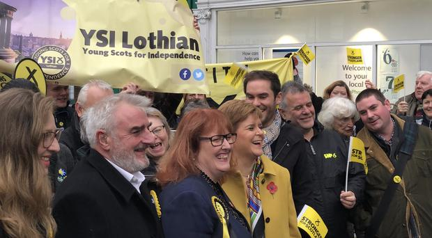 SNP leader Nicola Sturgeon said she is confident Jeremy Corbyn would grant powers to hold another Scottish independence referendum (Tom Eden/PA)