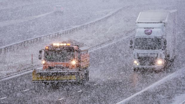 Snow showers caused transport problems in Scotland (Owen Humphreys/PA)