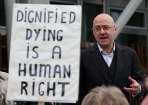 Patrick Harvie, co-convener of the Scottish Greens, supports efforts to legalise assisted suicide (Andrew Milligan/PA)