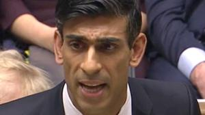 Chancellor Rishi Sunak's spending spree marks the largest 'Budget giveaway' since 1992 and will add around £100 billion to public borrowing by 2024, according to Britain's fiscal watchdog (House of Commons/PA)