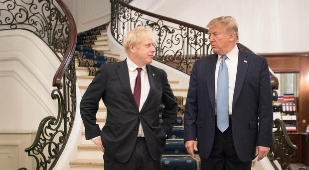 Boris Johnson and Donald Trump discussed the attacks on Saudi oil facilities (Stefan Rousseau/PA)