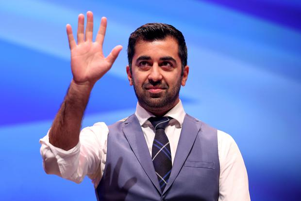 Justice Secretary Humza Yousaf welcomed the figures (Jane Barlow/PA)