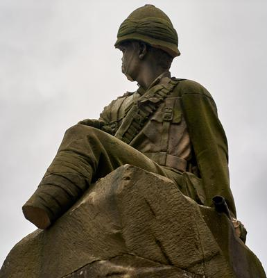 Police are appealing for information after the statue was vandalised on Tuesday night (Bill Mackintosh/PA)