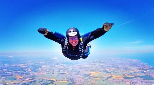 Darren Crumpler was a keen skydiver when disaster struck last July (Great North Air Ambulance Service /PA)