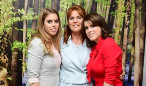 Sarah has been supported in her charitable work by her daughters Beatrice and Eugenie (Ian West/PA)