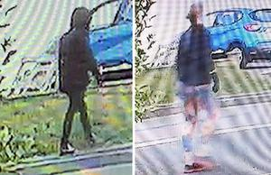 CCTV footage of two people who might have seen missing Owen Harding in Saltdean. (Sussex Police/PA)
