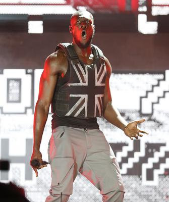Stormzy performing on the Pyramid Stage during the Glastonbury Festival (Yui Mok/PA)