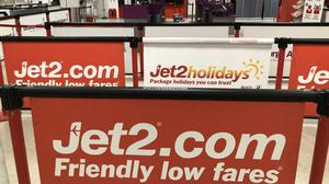 Airline Jet2 has tapped investors for £422m in a bid to shore up its finances amid the continued cancellation of flights (Andrew Milligan/PA)