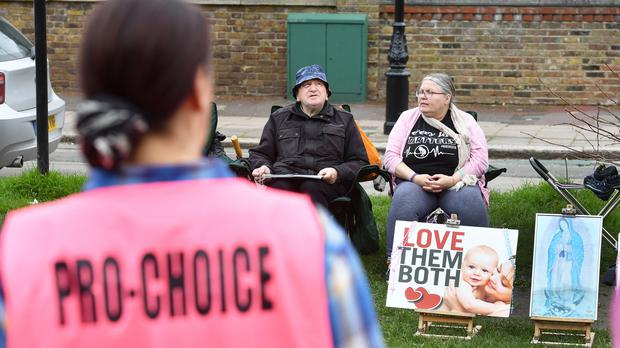 There have been a number of protests – both pro and anti-abortion – at clinics across the UK (John Stillwell/PA)
