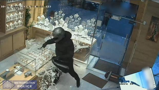 The robbers used hammers to smash through the display cases (Metropolitan Police/PA)