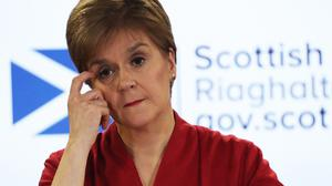 Nicola Sturgeon urged Scots not to go out this weekend (Andrew Milligan/PA)