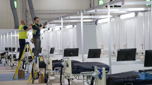 The ExCel centre in London was converted into a temporary hospital (Stefan Rousseau/PA)