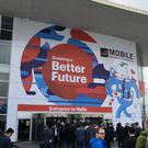 The entrance to the Mobile World Congress technology convention in Barcelona (Martyn Landi/PA)