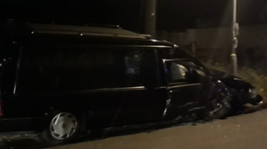 An image of a hearse issued by Nottinghamshire Police after two people were sentenced at the city's Crown Court ( Notts Police/PA)