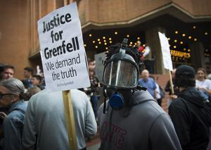 Protests were held ahead of a meeting of Kensington and Chelsea Council in July (Ben Stevens/PA)