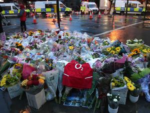 Flowers left after the London Bridge terror attack in June (Yui Mok/PA)