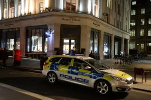 Police at the Mappin and Webb store in Regent's Street (John Stillwell/PA)