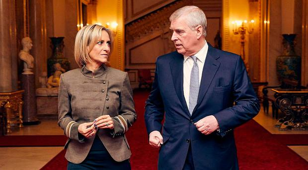 Prince Andrew and BBC Newsnight's Emily Maitlis