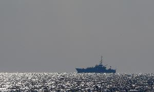 A Border Force Cutter on patrol in The Channel (Gareth Fuller/PA)