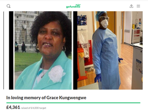 A fundraising page has been set up in Ms Kungwengwe's memory.