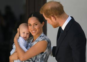 Harry, Meghan and Archie (Toby Melville/PA)